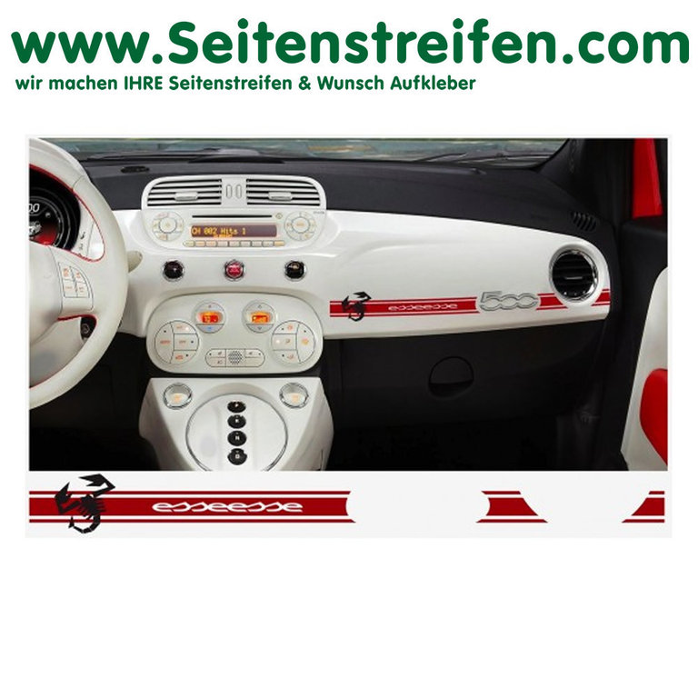 Fiat 500 Abarth Scorpion esseesse - Dashboard Stickers - N° 7893