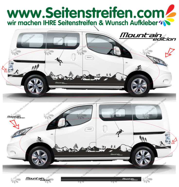 Nissan NV200 Mountain Edition Matterhorn - bil klistremerker Set - N° 1520