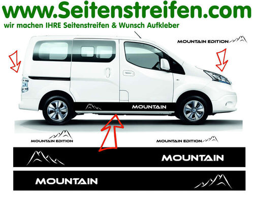Nissan NV200 Mountain Edition - decalsats, bildekaler fullständig set - N° 1521