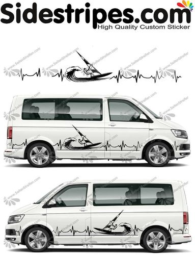 VW Bus T4 T5 T6  -  EKG line surf edition Set - U5014