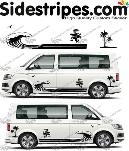 VW Bus T4 T5 T6  - Surf fun edition Set - U5018