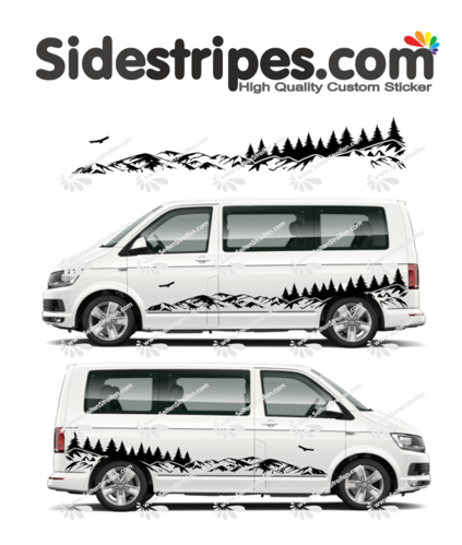 VW Bus T4 T5 T6  -  Mountains forest outdoor Edition Set - U2001