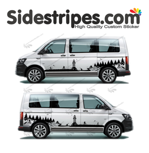 VW Bus T4 T5 T6  - Mountains coast lighthouse  Edition Set - U1997