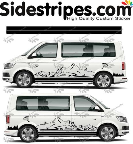 VW Bus T4 T5 T6  - Bavaria mountains Edition Set - U1453