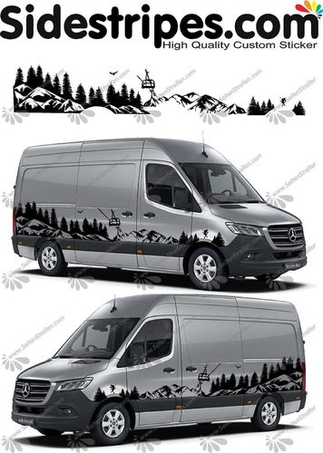 Mercedes Sprinter - Mountains forest ski edition Set - U6720