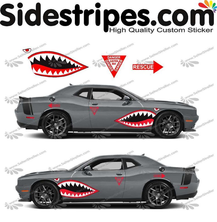 Dodge Challenger - shark's mouth rescue edition Set -  tri-color -  U5013