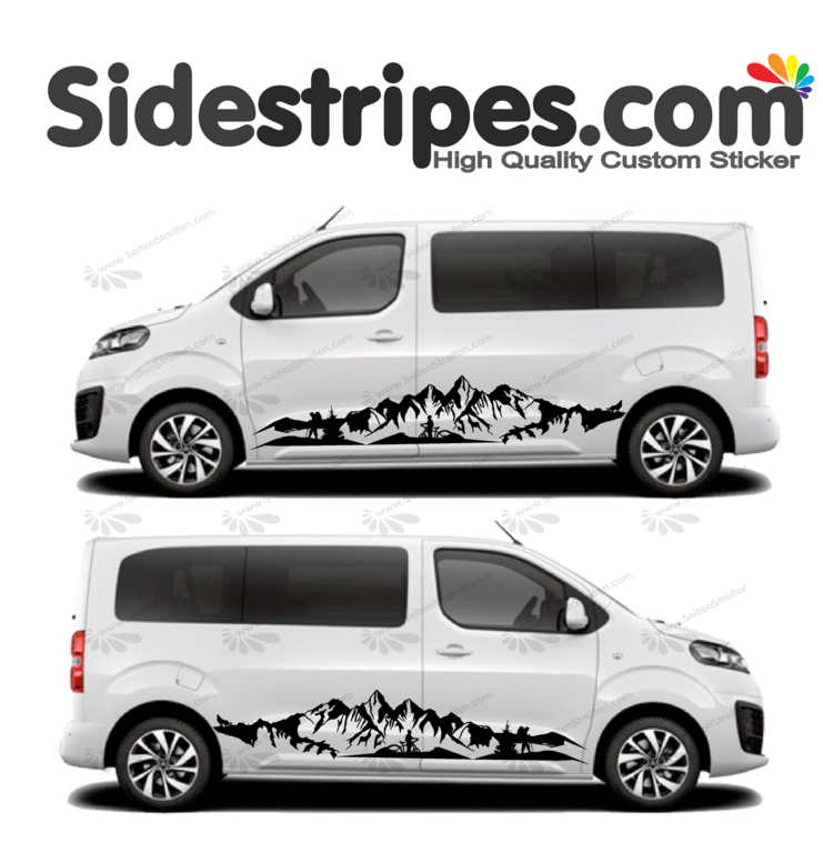 Toyota ProAce & Verso - Mountain Wolf  Panorama Outdoor Edition - Decals Sticker Kit - N° U2007