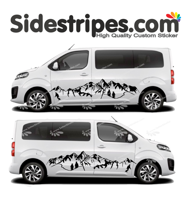 Toyota ProAce & Verso - Hiking Snowboard  Panorama Outdoor Edition - Decals Sticker Kit - N° U2009