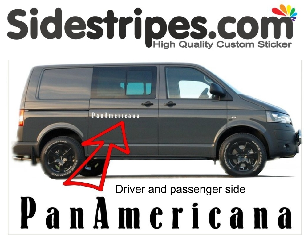 VW T6 PanAmericana  - side stripe sticker decal complete set edition look - N° 7783