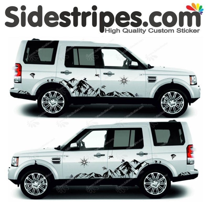 Land Rover - Mountain Edition XL - Graphics Decals Sticker Kit - N° 8005