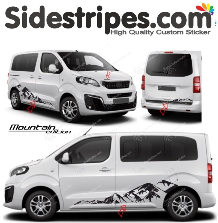 Toyota ProAce & Verso - Mountain Edition - Graphics Decals Sticker Kit - N° 9002