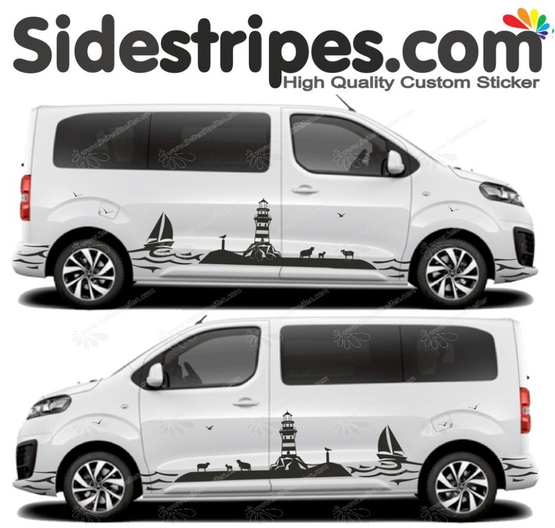 Toyota ProAce & Verso - Coast Lighthouse Edition - Graphics Decals Sticker Kit - N° U5005