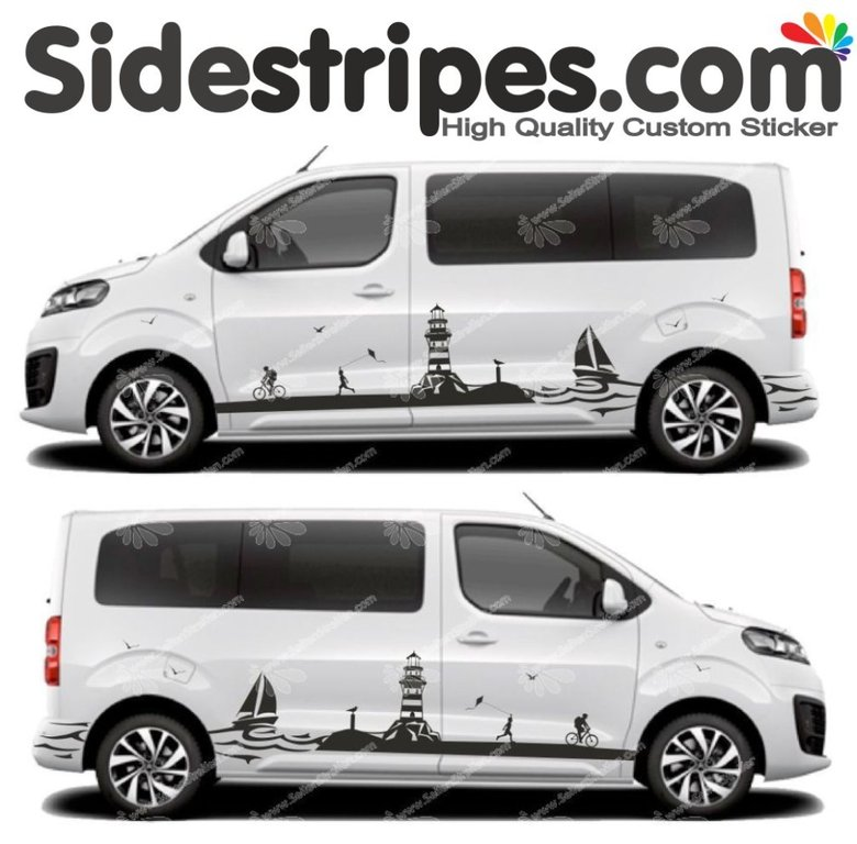Toyota ProAce & Verso - Sailing Lighthouse Edition - Graphics Decals Sticker Kit - N° U5004