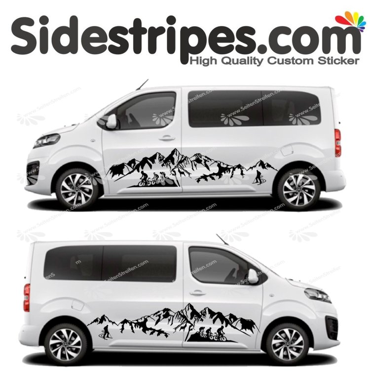 Toyota ProAce & Verso - Mountains, Bike, Ski Edition - Graphics Decals Sticker Kit - N° U2008
