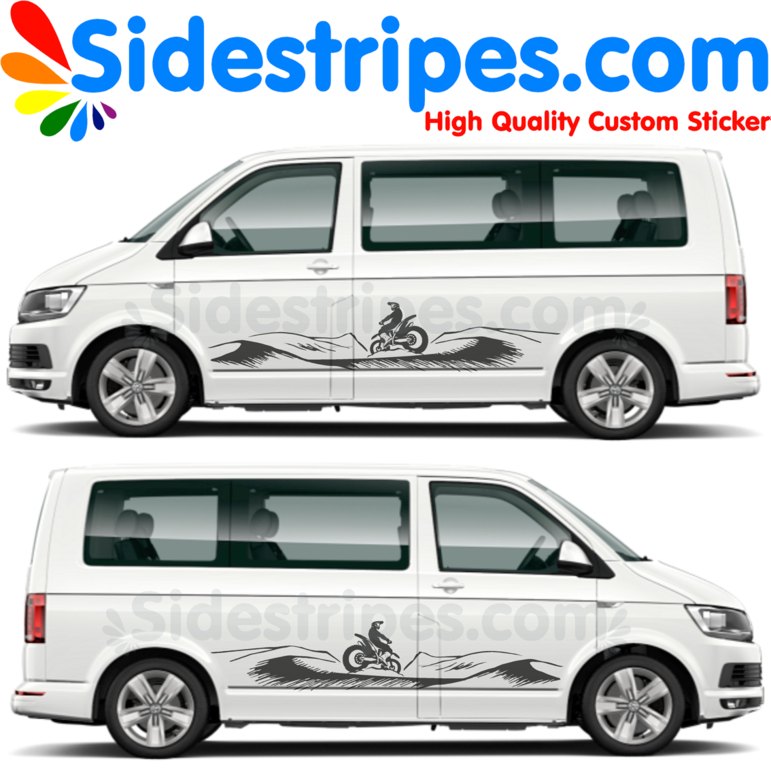 VW T4 T5 T6 - Desert Enduro - Graphics Decals Sticker Kit - N° U8889