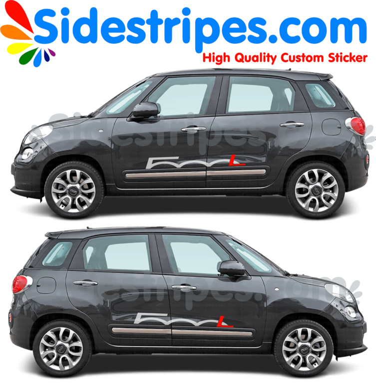 Fiat 500L - L in red - Graphics Decals Sticker Kit - N° U8892