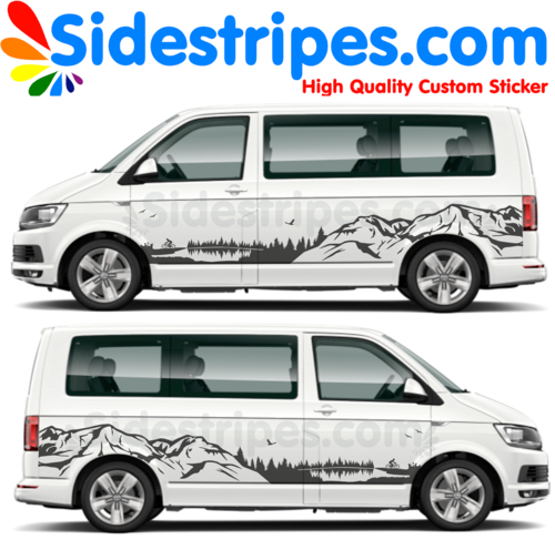 VW T4 T5 T6 Black Forest Edition - Graphics Decals Sticker Kit - N° U8893