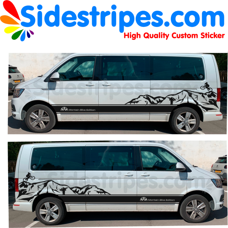 Side Stripes Graphics Decals Sticker Kit - N° 0000