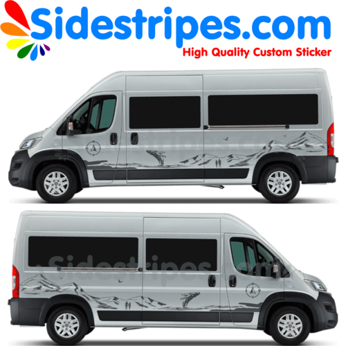 Ducato - Jumper -  Peugeot Boxer - Mountain Whale Edition - Graphics Decals Sticker Kit - Nr.U8895